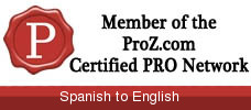Member of the ProZ.com Certified PRO Network
